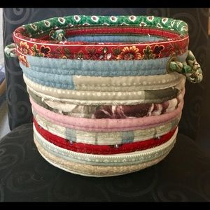 Adorable fabric basket - NEW